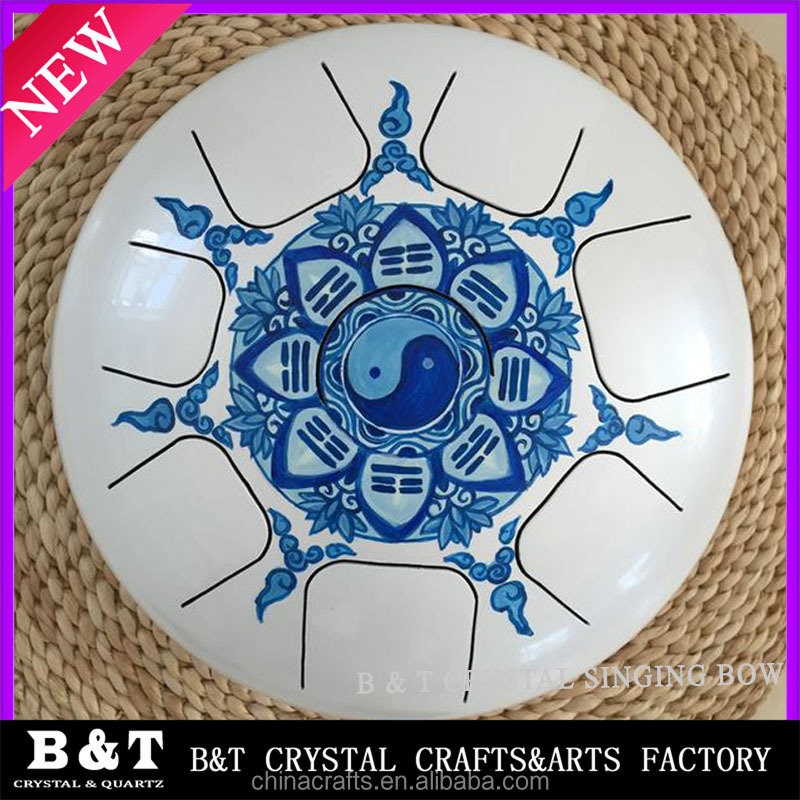 2016 Newest style Stainless Steel Tongue Drum Color Chakra Om Steel Tongue Drum