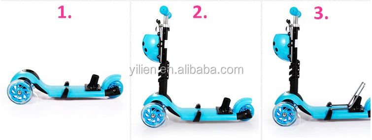5 in 1 kids kick scooter from original factory all fresh PP material child scooters