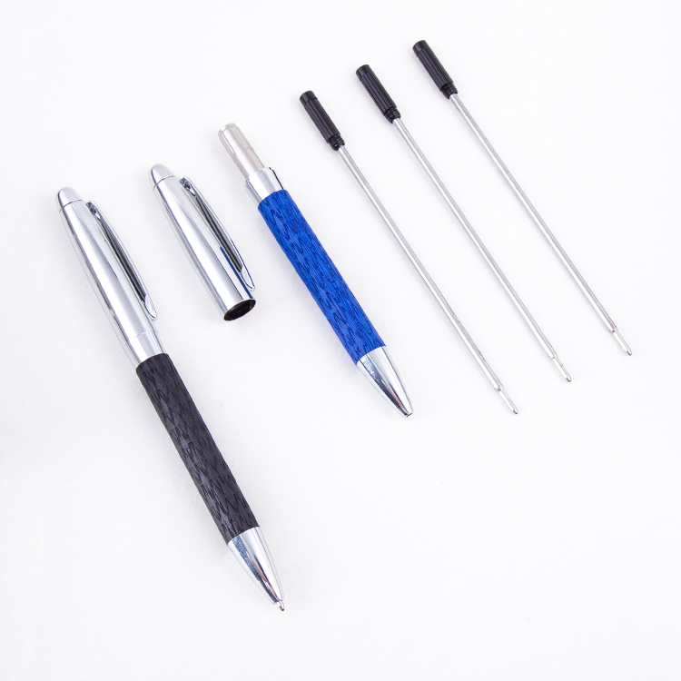 2018 High Grade leather Metal pen business Custom logo Ballpoint Pens