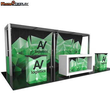 2018 Custom design modular 10*20FT portable aluminum truss exhibition trade show booth