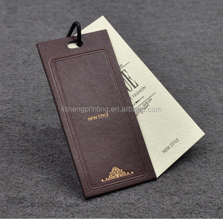 custom branded paper hang tags and fashion tag