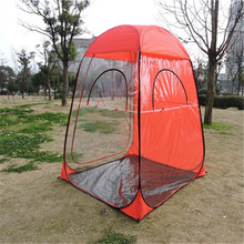 2017 new product outdoor sports watching one touch 30 seconds pop up weather chair tent matel steel pole with plastic windows