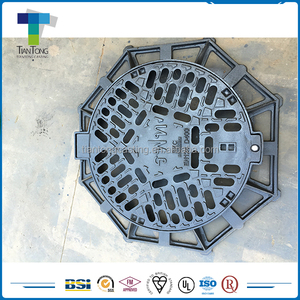High load rating no fading ductile iron construction used manhole cover