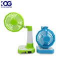 New Camping USB Rechargeable Dry Battery Folding Rotatable Portable Small Desk Fan With Night With Powerbank