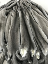 100% real raw mink fur skin pelt