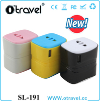 2016 newest arrival top selling usb world travel adaptor