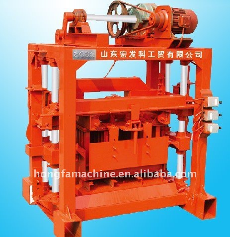 QTJ4-40B2 stationary MANUAL concrete Block brick machine