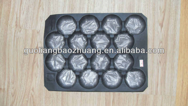 2014 Hot Selling Black Plastic Party Fruit Tray