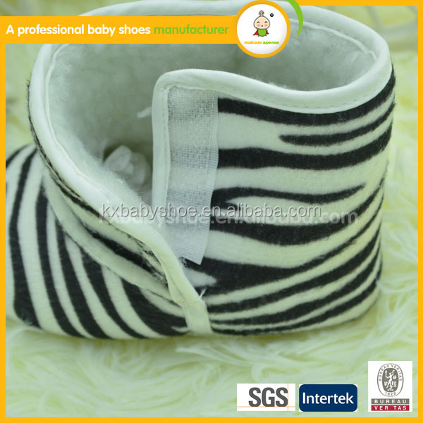 2015 hot selling wholesale lovely Zebra snow boots baby shoes kid shoes