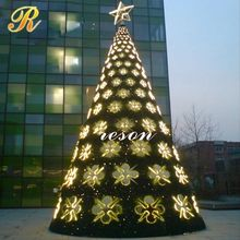 China manufacturer color changing led glass christmas tree