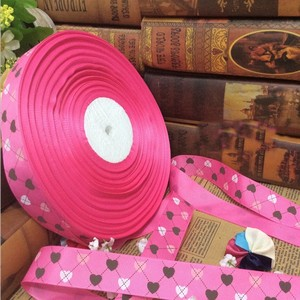 HS Code for Pink Jacquard Ribbon Wholesale
