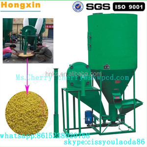 Hot selling animal feed stuff vertical crushing mixer