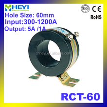 Big capacity single phase low voltage current transformer class 0.5 RCT-60 measure 300-1200A shield current transformer 5a
