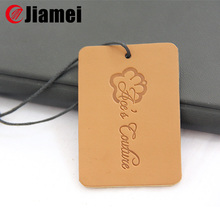 Customize embossed leather tag for clothing
