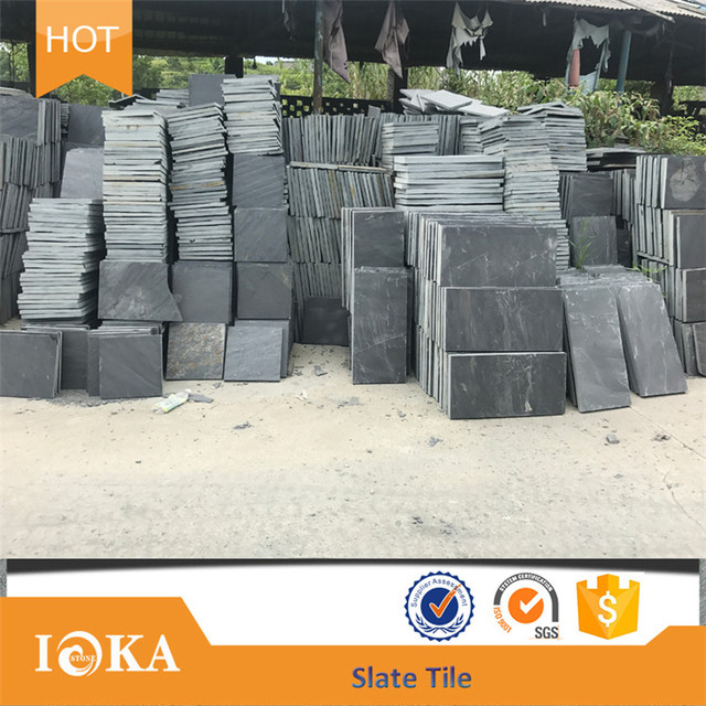 30x60 floor tiles Chinese cheap black slate tile