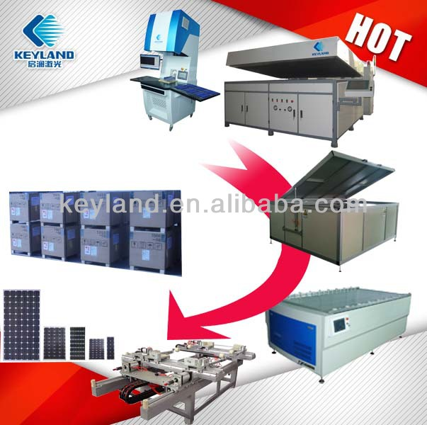 Fully Automatic 10MW 20MW 50MW 100MW Photovoltaic Solar Panel Manufacturing Machine System