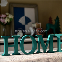 2015TedaPainted Mint Green Wooden decoration big letters Home&Garden Decoration