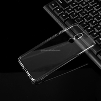 Phone accessories transparent crystal ultra thin soft simple flexible 0.5mm TPU phone case cheap cover for huawei P6