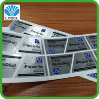Silver foil label stickers adhesive vinyl qr code label sticker printing