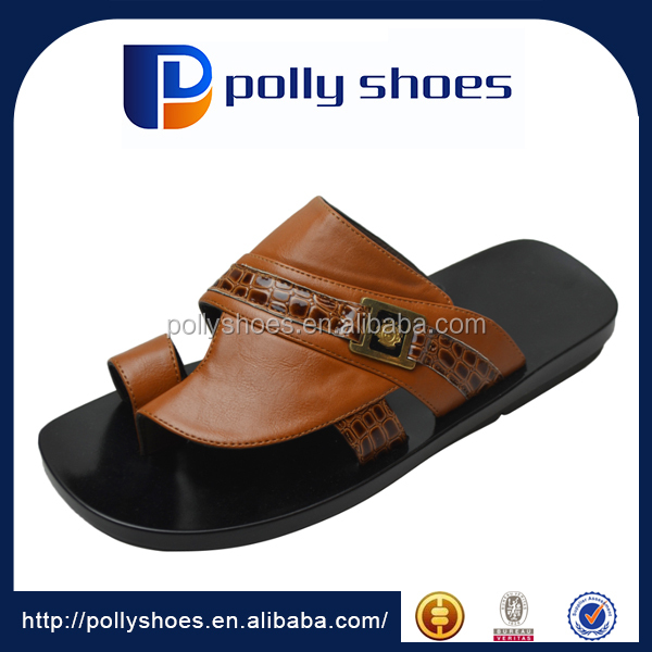 Arab men leather slipper sandals wholesale