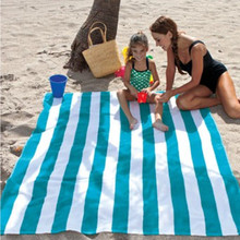 Cool Blue Striped 2 Person Oversized Jumbo Double Beach Towels Size For Two Guys