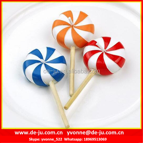 Windmill Printing Colorful Lollipop Shaped Branded Scented Candles