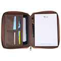 Travelling Multifunction Zipper Credit Cards Holder Genuine Leather Notebook Custom Inner Pages