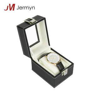 Cheap Small PU Leather Wood Watch Boxes Cases Watches Packaging