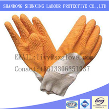 Latest products to working protect hand latex wrinkling gloves