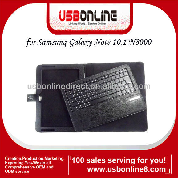 Removeable Bluetooth Keyboard Case For Samsung Galaxy Note N8000 Black