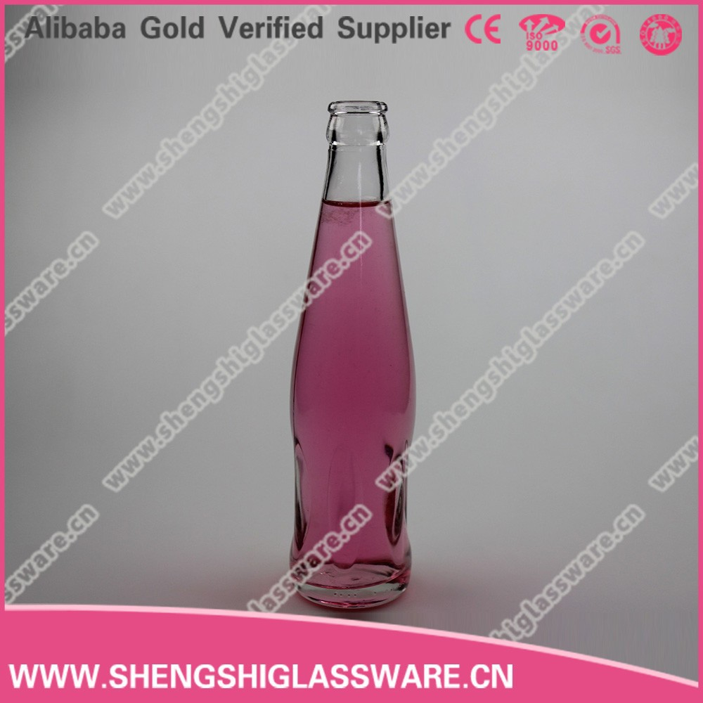 screw cap 250ml clear glass juice bottle