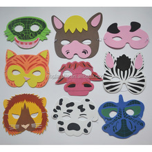 Customize colorful Eva foam mask eva animal mask for kids