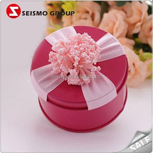 Unique Gift Decorative Small Multi Colors Rounded Tin Boxes