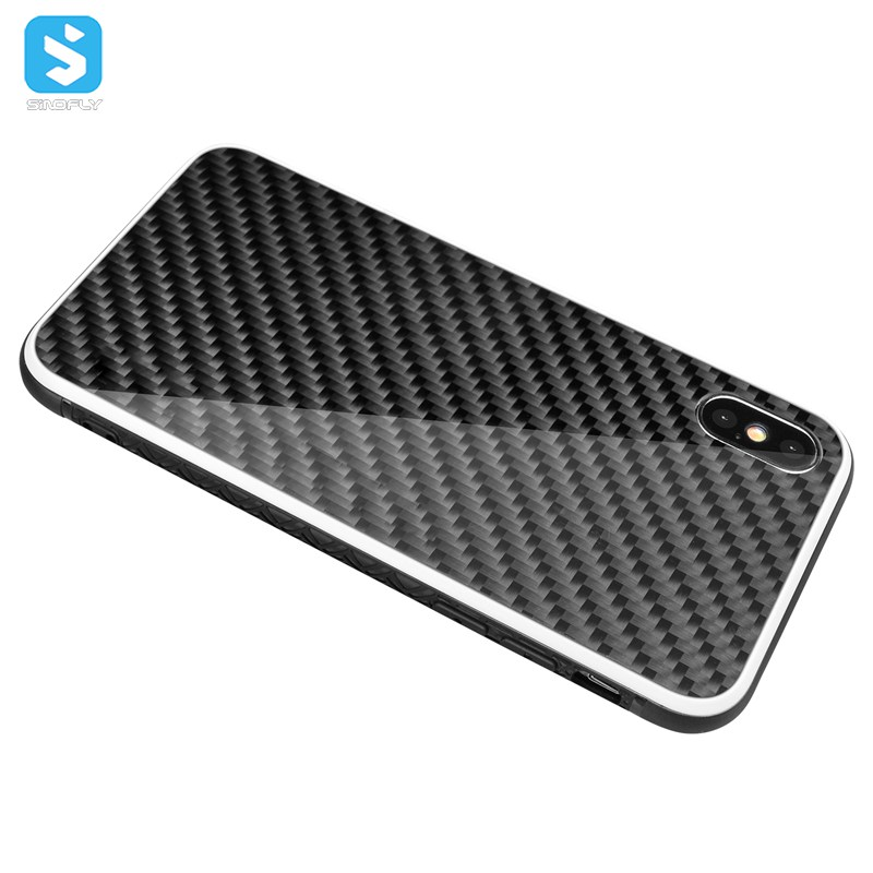 2018 new arrival Carbon fiber phone case for iPhone X