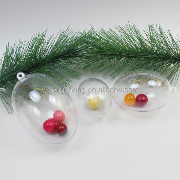 colored acrylic balls Plastic Christmas easter egg toy candy