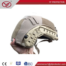 factory supplier NIJ IIIA 9mm .44 light weight military ballistic fast kevlar helmet with cover
