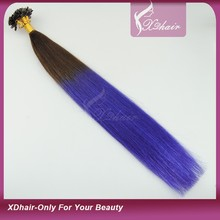 Various Colors Are Available Cheap Karetin Pre-bonded Human Hair U Tip, I Tip, V Tip Hair Extension