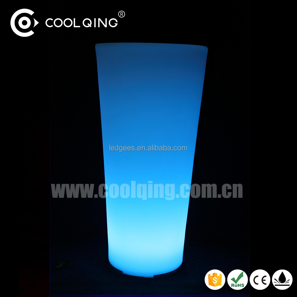 GREAT! Glowing LED Outdoor Large Planters flower pot with 16 Color Changing and CE RoHS
