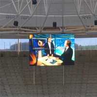 led sports stadium perimeter display board p12 full cololor P15.6 flexible led curtain