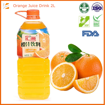 2000ml Orange Fruit Juice Soft Drink From Large Manufacturers
