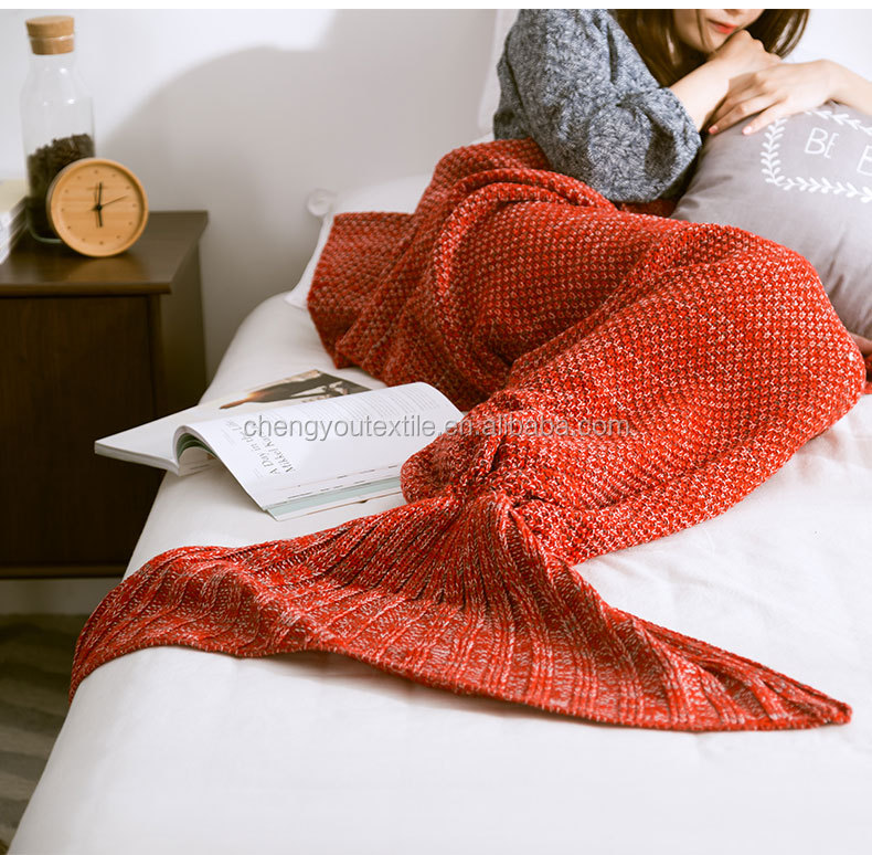 New Design Winter Adult Mermaid Tail Blanket,Blanket Mermaid