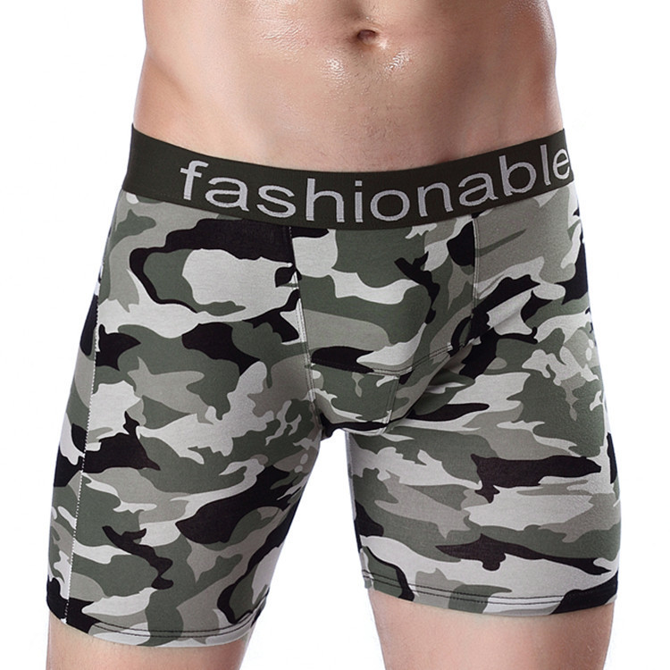 Comfortable brand <strong>U</strong> convex nightwear sleepwear underpants boxer shorts long mens underwear