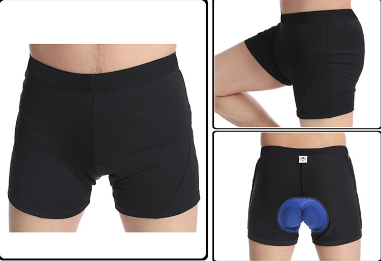 HC Hot sale Cycling Shorts 3D Coolmax Gel Padded Cycling Adults Bike Underwear Shorts