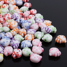 DIY Material Handmade Colorful Hello Kitty Shape Acrylic Beads For Jewelry Making