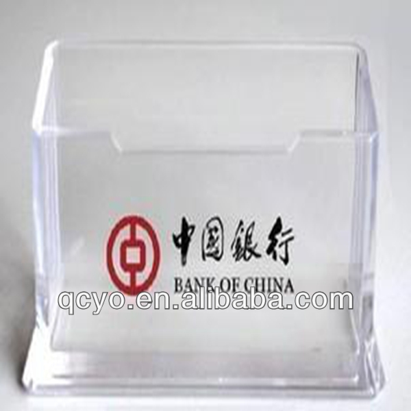 Commercial plexiglass credit card holder