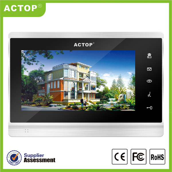 ACTOP cat5 wire video door phone intercom system for large apartment