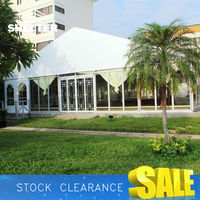 Large outdoor meeting tent 25x40