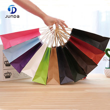 wholesale Popular customize A5 size colored kraft paper shopping bag