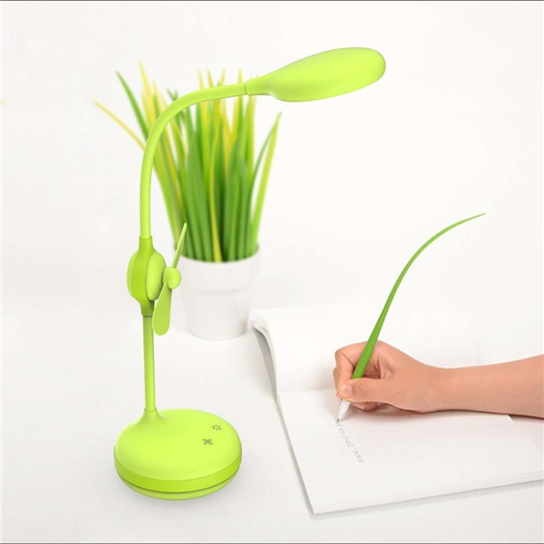 Promotion gift rechargebale portable led lamp with touch fan
