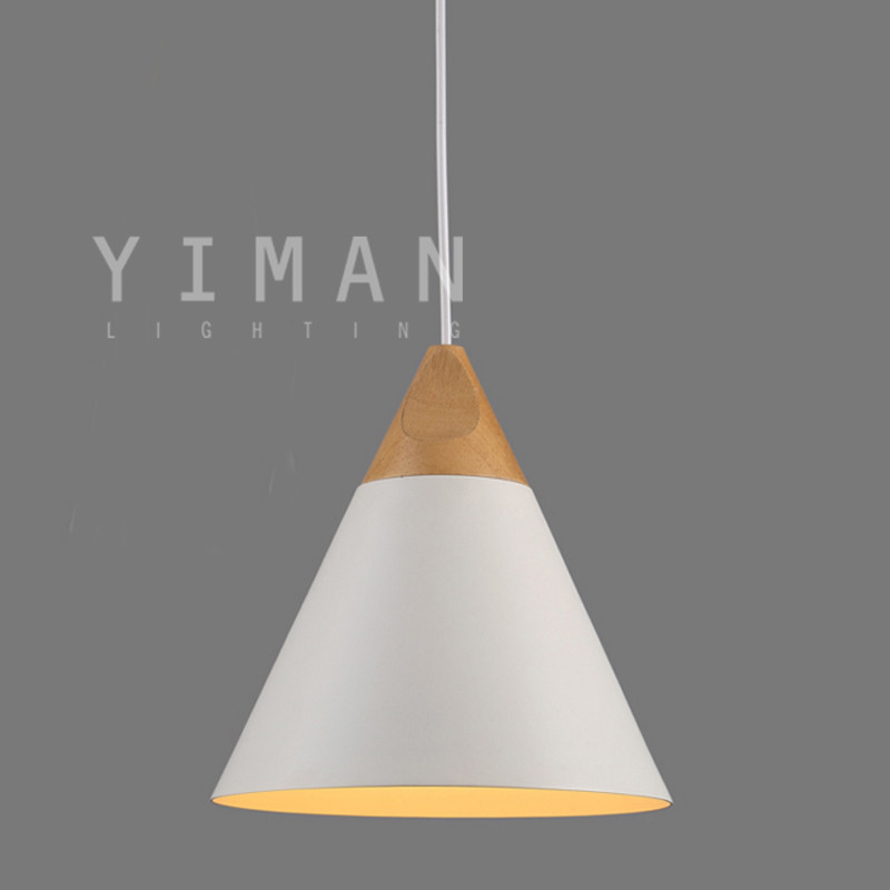 Modern contracted Aluminum Pendant light White/Yellow/Black/Silver Pendant lighting handmade Pendant lamp